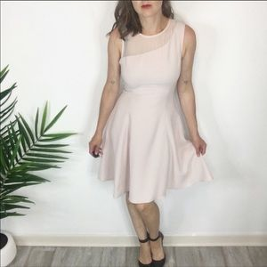 REISS sleeveless dress fit & flare light pink 1064
